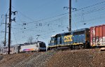 CSX 6240, NJT 4619 pass on the rear of their trains.